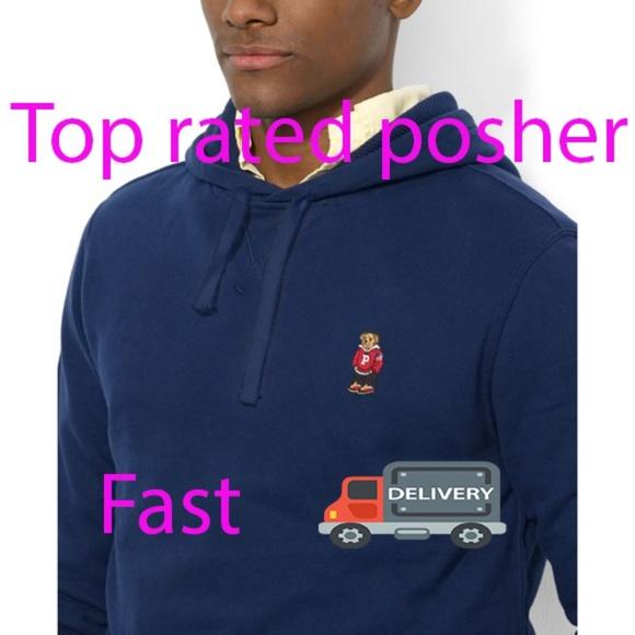 ccdef643daaf Men s polo Ralph Lauren bear pullover hoodie